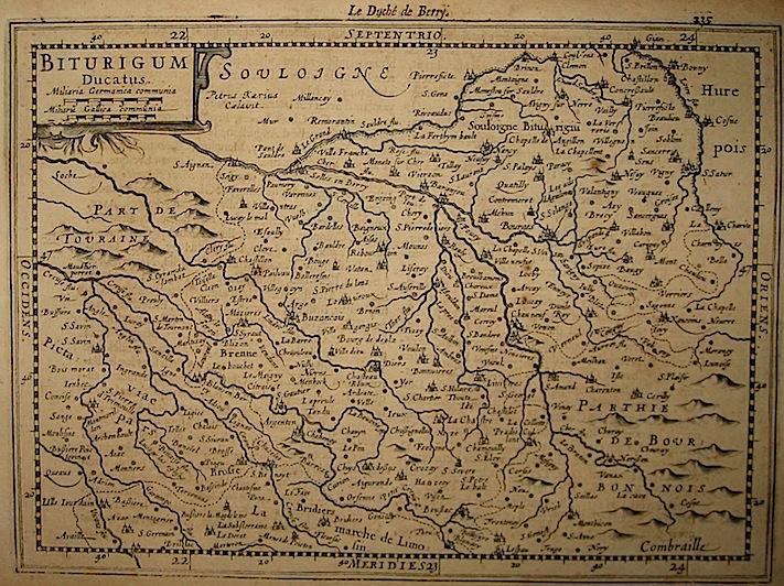 Mercator Gerard - Hondius Jodocus Biturigum Ducatus 1630 Amsterdam