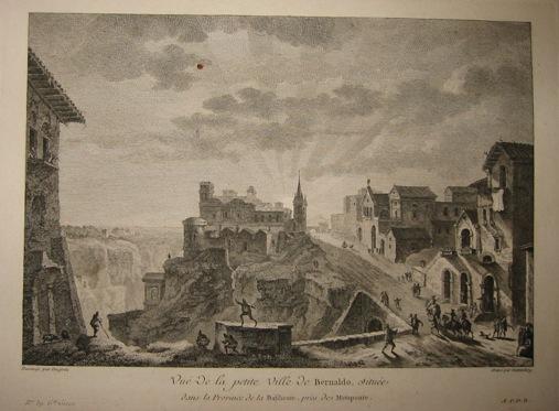Guttemberg Vue de la petite Ville de Bernaldo... 1783 Parigi
