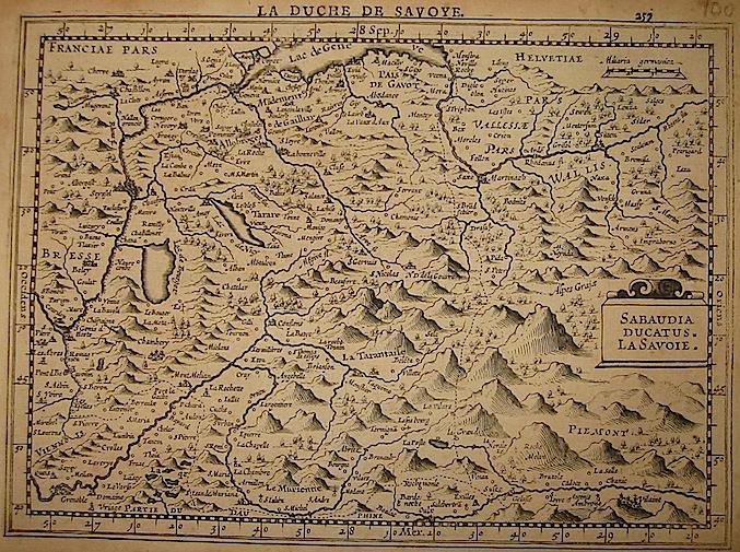 Mercator Gerard - Hondius Jodocus Sabaudia Ducatus. La Savoie 1630 Amsterdam