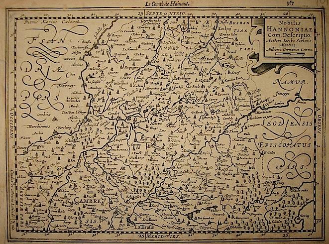 Mercator Gerard - Hondius Jodocus Nobilis Hannoniae Com. Descriptio 1630 Amsterdam