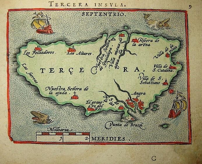 Ortelius Abraham (1528-1598) Tercera insula 1601 Anversa, apud Ioannem Bapt. Vrientum