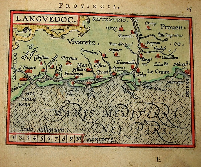 Ortelius Abraham (1528-1598) Languedoc 1601 Anversa, apud Ioannem Bapt. Vrientum