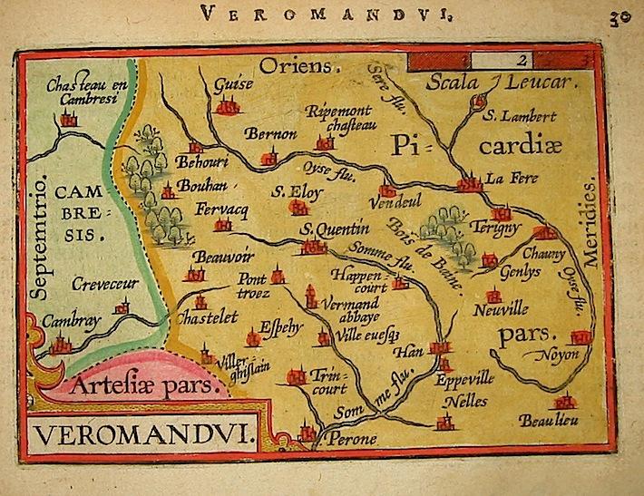 Ortelius Abraham (1528-1598) Veromandui 1601 Anversa, apud Ioannem Bapt. Vrientum