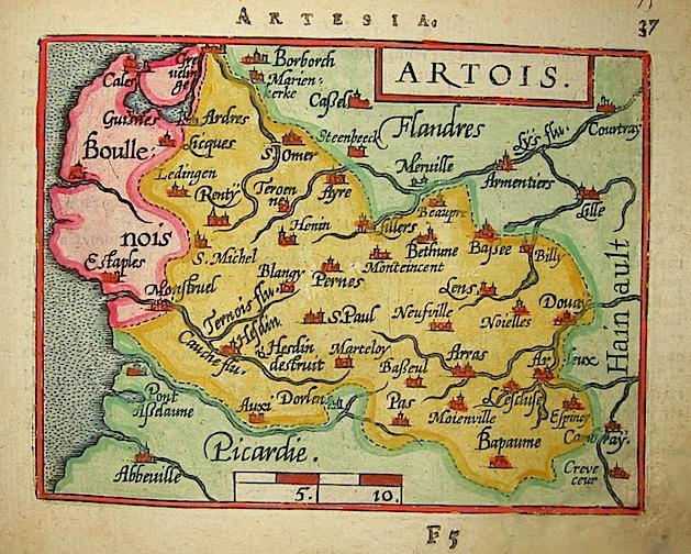 Ortelius Abraham (1528-1598) Artois 1601 Anversa, apud Ioannem Bapt. Vrientum