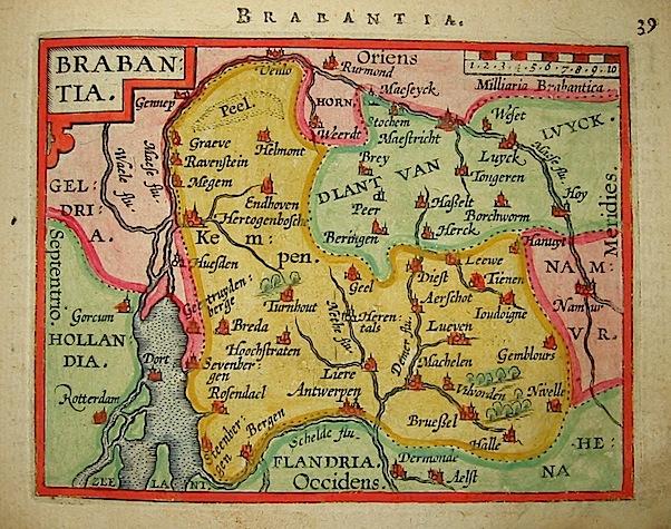 Ortelius Abraham (1528-1598) Brabantia 1601 Anversa, apud Ioannem Bapt. Vrientum