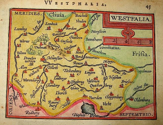 Ortelius Abraham (1528-1598) Westfalia 1601 Anversa, apud Ioannem Bapt. Vrientum