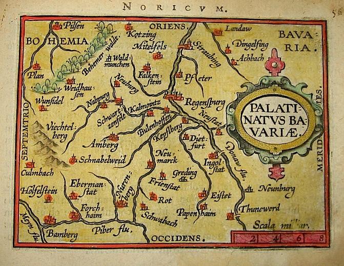 Ortelius Abraham (1528-1598) Palatinatus Bavariae 1601 Anversa, apud Ioannem Bapt. Vrientum