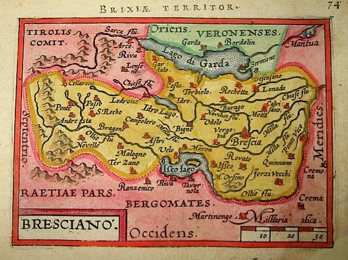 Ortelius Abraham (1528-1598) Bresciano 1601 Anversa, apud Ioannem Bapt. Vrientum
