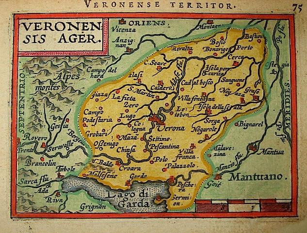 Ortelius Abraham (1528-1598) Veronensis ager 1601 Anversa, apud Ioannem Bapt. Vrientum