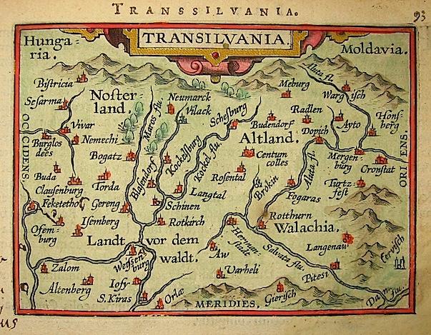 Ortelius Abraham (1528-1598) Transilvania 1601 Anversa, apud Ioannem Bapt. Vrientum