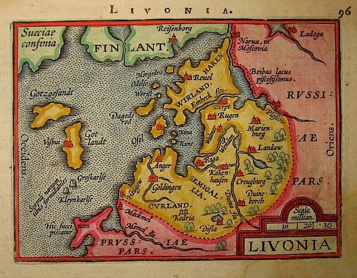 Ortelius Abraham (1528-1598) Livonia 1601 Anversa, apud Ioannem Bapt. Vrientum