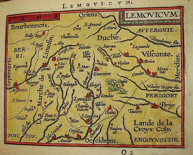 Ortelius Abraham (1528-1598) Lemovicum 1601 Anversa, apud Ioannem Bapt. Vrientum