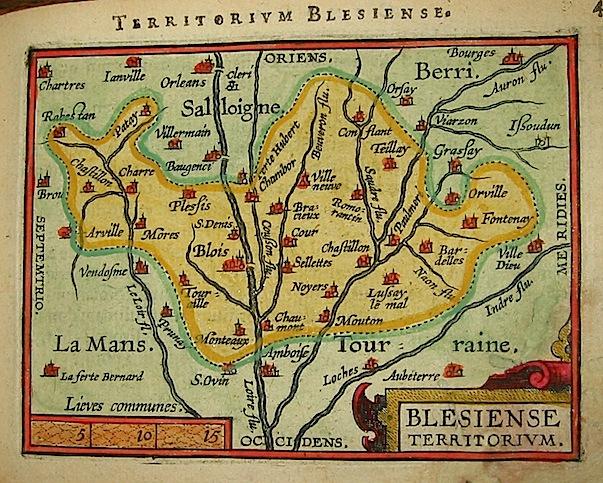 Ortelius Abraham (1528-1598) Blesiense territorium 1601 Anversa, apud Ioannem Bapt. Vrientum