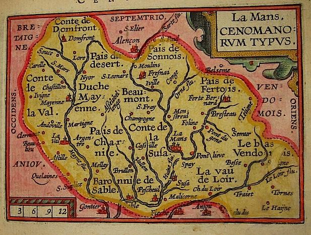 Ortelius Abraham (1528-1598) La Mans. Cenomanorum typus 1601 Anversa, apud Ioannem Bapt. Vrientum