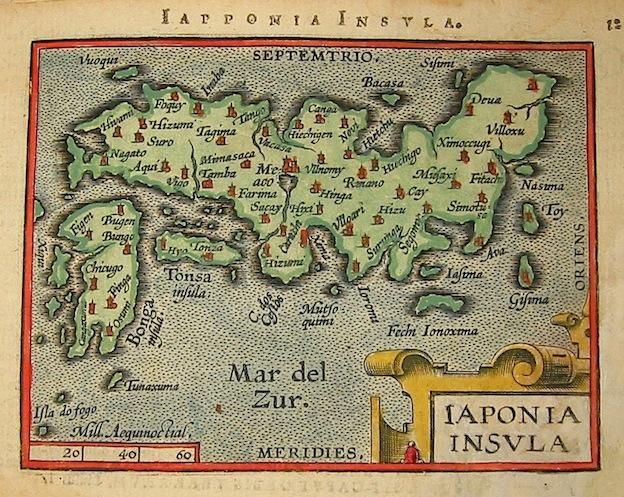 Ortelius Abraham (1528-1598) Iaponia insula 1601 Anversa, apud Ioannem Bapt. Vrientum