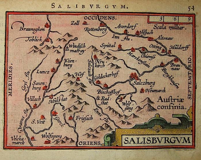 Ortelius Abraham (1528-1598) Salisburgum 1601 Anversa, apud Ioannem Bapt. Vrientum