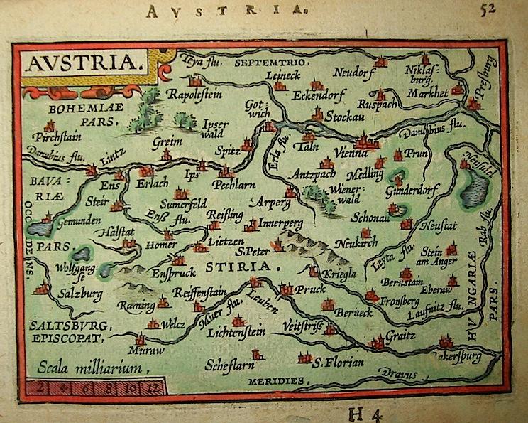 Ortelius Abraham (1528-1598) Austria 1601 Anversa, apud Ioannem Bapt. Vrientum