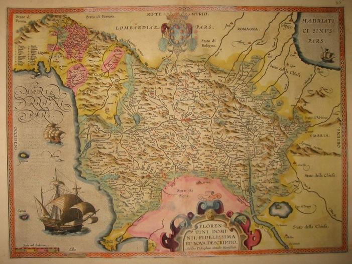 Ortelius Abraham (1528-1598) Florentini Dominii, fidelissima et nova descriptio 1603 Anversa, Jean Baptiste Vrients