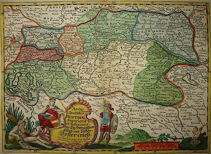 Baeck Elias (1679-1747) Archiducatus Austriae Superioris et Inferioris 1748 Augsburg