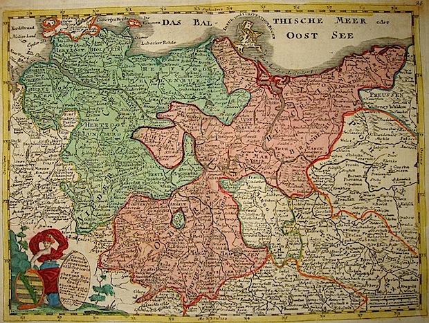 Baeck Elias (1679-1747) Circulus Saxoniae Superioris et Inferioris 1748 Augsburg
