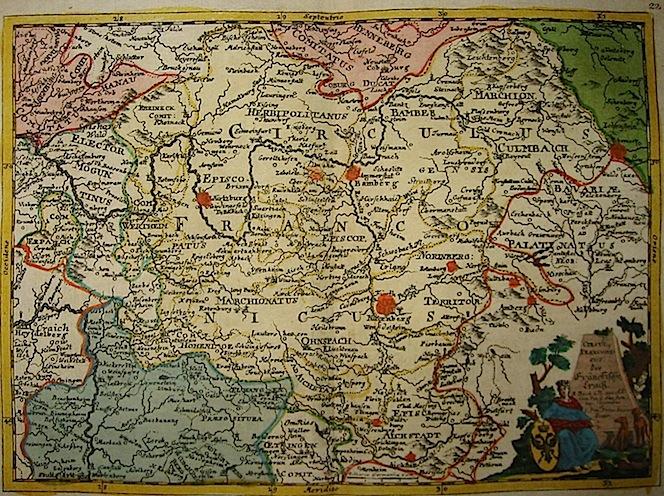 Baeck Elias (1679-1747) Circulus Franconicus 1748 Augsburg