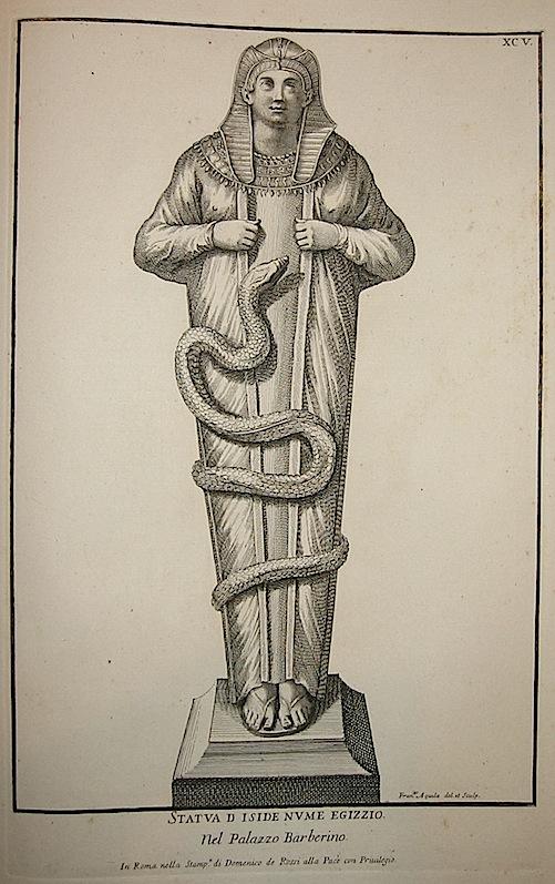 Aquila Francesco Statua di Iside Nume Egizio. Nel Palazzo Barberino 1704 Roma