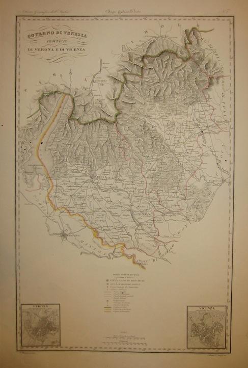 Zuccagni-Orlandini Attilio (1784-1872) Provincie di Verona e di Vicenza 1844 Firenze