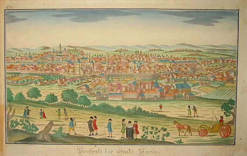 Sommer A. Prospect des Stadt Paris 1780 Vienna