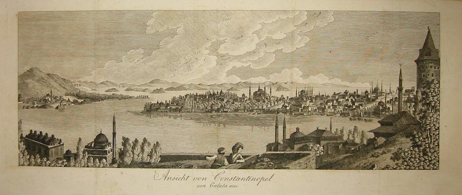 Anonimo Ansicht von Constantinopel von Galata aus 1754 Halle