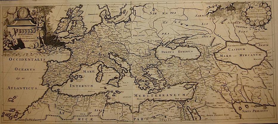 Sanson Nicolas (1600-1667) Romani Imperii qua Occidens est descriptio geographica (Romani Imperii qua Oriens...) 1696 Leida