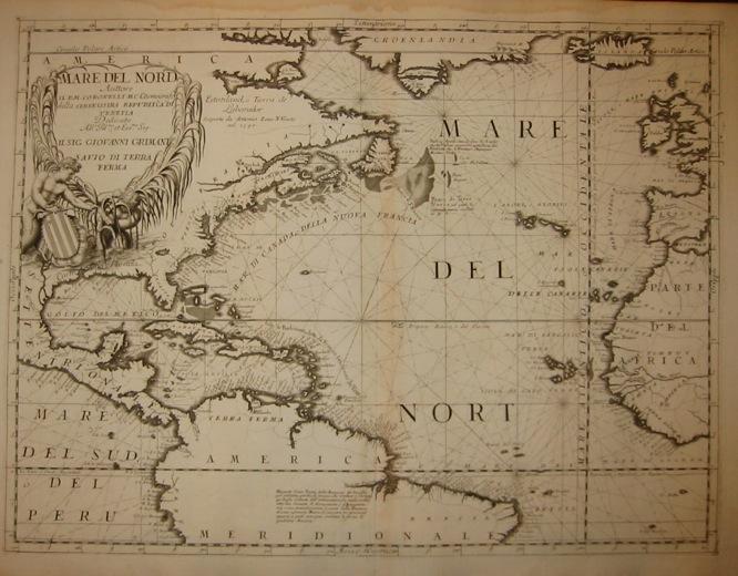 Coronelli Vincenzo Maria (1650-1718) Mare del Nord 1691 Venezia