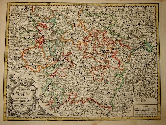 Seutter Matthaeus (1678-1757) Mappa geographica in qua Ducatus Lotharingiae... s.d. (ma 1744) Augsburg, presso C.Lotter