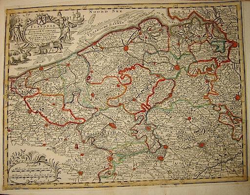 Seutter Matthaeus (1678-1757) Flandria... s.d. (ma 1744) Augsburg, presso C.Lotter