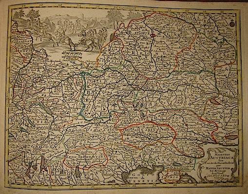 Seutter Matthaeus (1678-1757) Maiestas Austriaca sive Circ. Archi. Ducat. Austriae... s.d. (ma 1744) Augsburg, presso C.Lotter