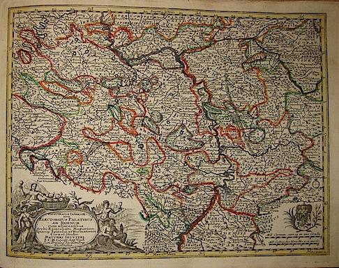 Seutter Matthaeus (1678-1757) Palatinatus Inferior. sive Electoratus Palatinus ad Rhenum... s.d. (ma 1744) Augsburg, presso C.Lotter