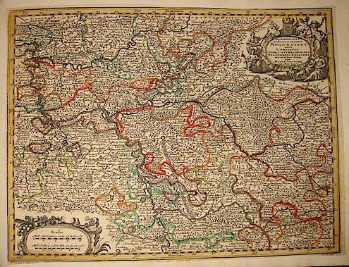 Seutter Matthaeus (1678-1757) Archiepiscopat. et Electoratus Moguntinus... s.d. (ma 1744) Augsburg, presso C.Lotter