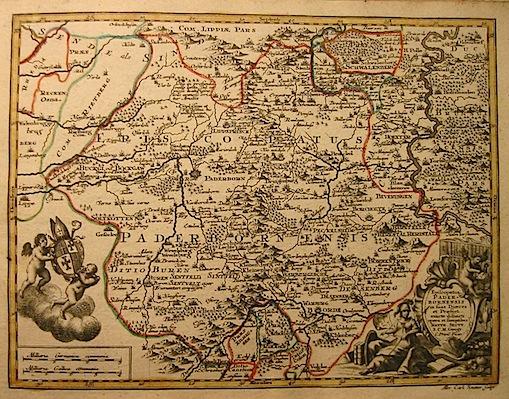 Seutter Matthaeus (1678-1757) Episcopatus Paderbornensis... s.d. (ma 1744) Augsburg, presso C.Lotter