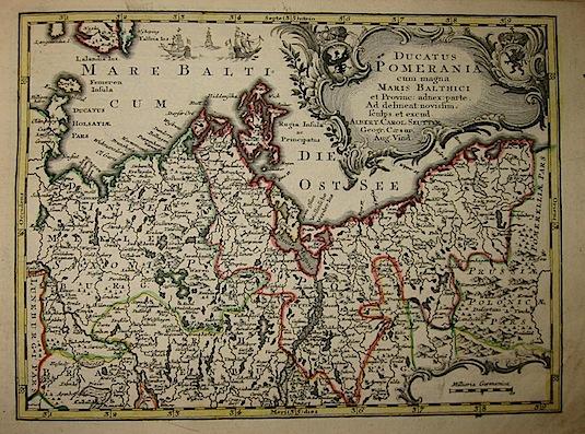 Seutter Matthaeus (1678-1757) Ducatus Pomerania... s.d. (ma 1744) Augsburg, presso C.Lotter