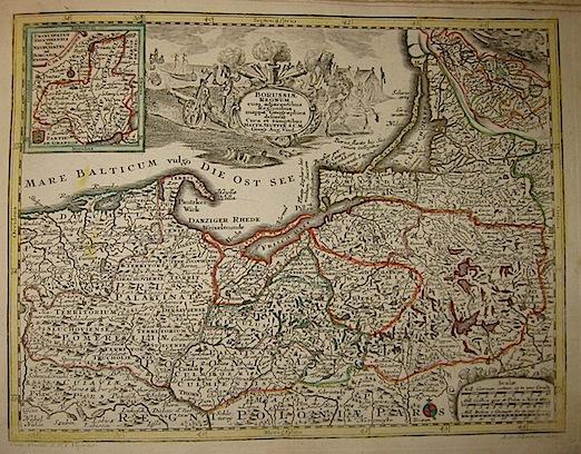 Seutter Matthaeus (1678-1757) Borussiae Regnum... s.d. (ma 1744) Augsburg, presso C.Lotter