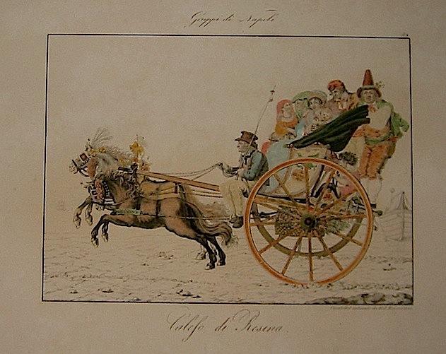Kaiser F. Calesso di resina 1815 Napoli