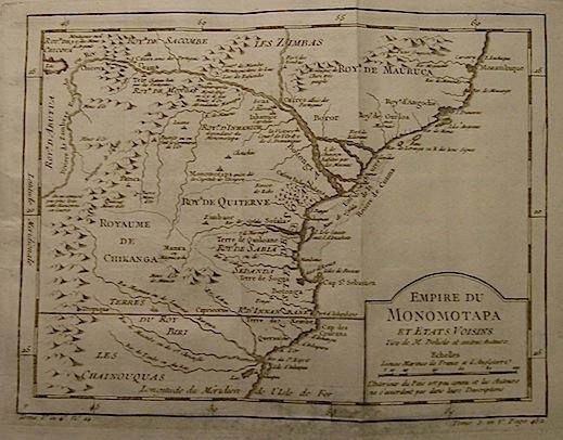 Bellin Jacques Nicolas (1703-1772) Empire du Monomotapa... 1750 ca. Parigi