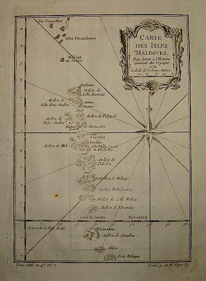 Bellin Jacques-Nicolas (1703-1772) Carte des Isles Maldives... 1760 Parigi