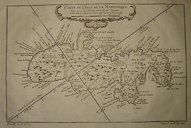Bellin Jacques-Nicolas (1703-1772) Carte de l'Isle de la Martinique... 1750 ca. Parigi