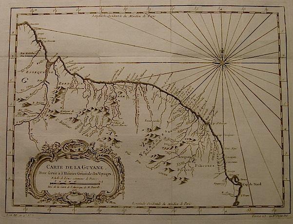 Bellin Jacques-Nicolas (1703-1772) Carte de la Guyane... 1757 Parigi