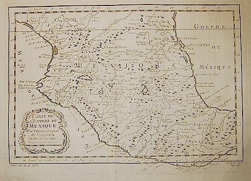 Bellin Jacques-Nicolas (1703-1772) Carte du l'Empire du Méxique... 1754 Parigi