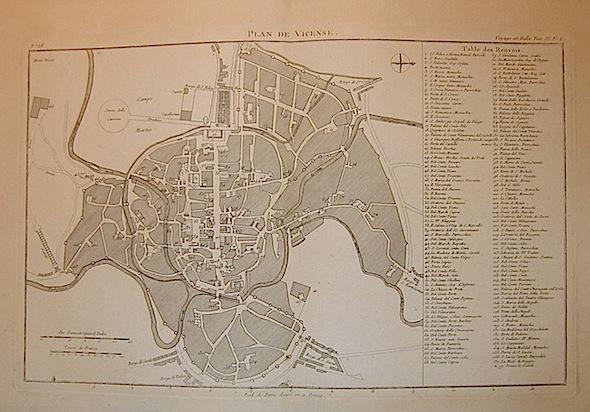 Lalande (de) Joseph Jerome Plan de Vicense 1790 Parigi
