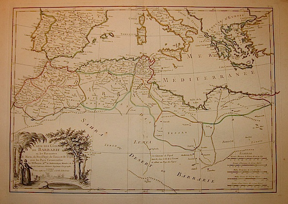 Bonne Rigobert Carte des cotes de Barbarie... 1762 Parigi