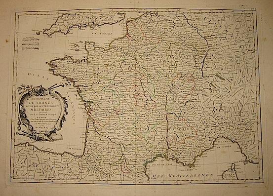 Janvier Jean Robert Le Royaume de France divisée par gouvernements militaires... 1762 Parigi