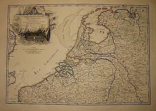 Janvier Jean Robert Partie septentrionale des Pais Bas... 1762 Parigi