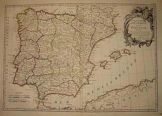 Janvier Jean Robert Les Royaumes d'Espagne et de Portugal... 1762 Parigi